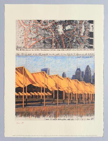 Litografia Christo - 'The Gates, project for Central Park New York City