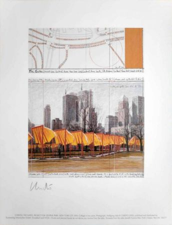 Offset Christo -  The Gates, Project for Central Park, New York, XIV