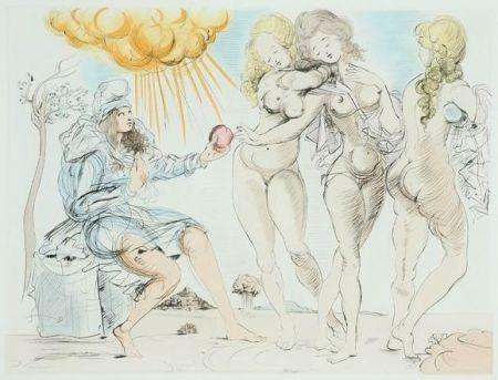 Incisione Dali - The Judgment of Paris