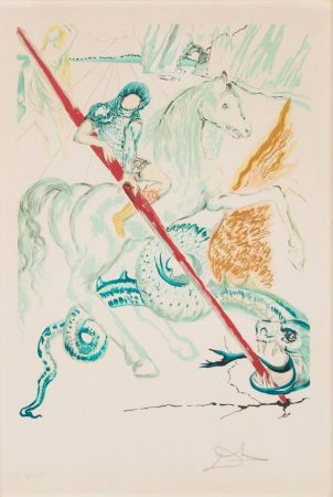 Litografia Dali - The Lance of Chivalry