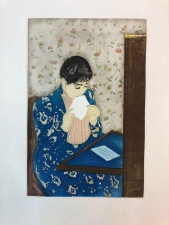 Acquaforte Cassatt - The letter