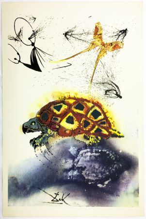 Rotocalcografia Dali - THE MOCK TURTLE'S STORY (From Alice in Wonderland. New-Yok 1969).