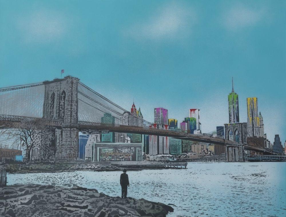 Serigrafia Walker - The Morning After – Brooklyn Bridge
