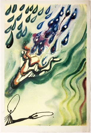 Rotocalcografia Dali - THE POOL OF TEARS (From Alice in Wonderland. New-Yok 1969).