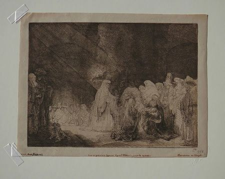 Incisione Rembrandt - The Presentation in The Temple