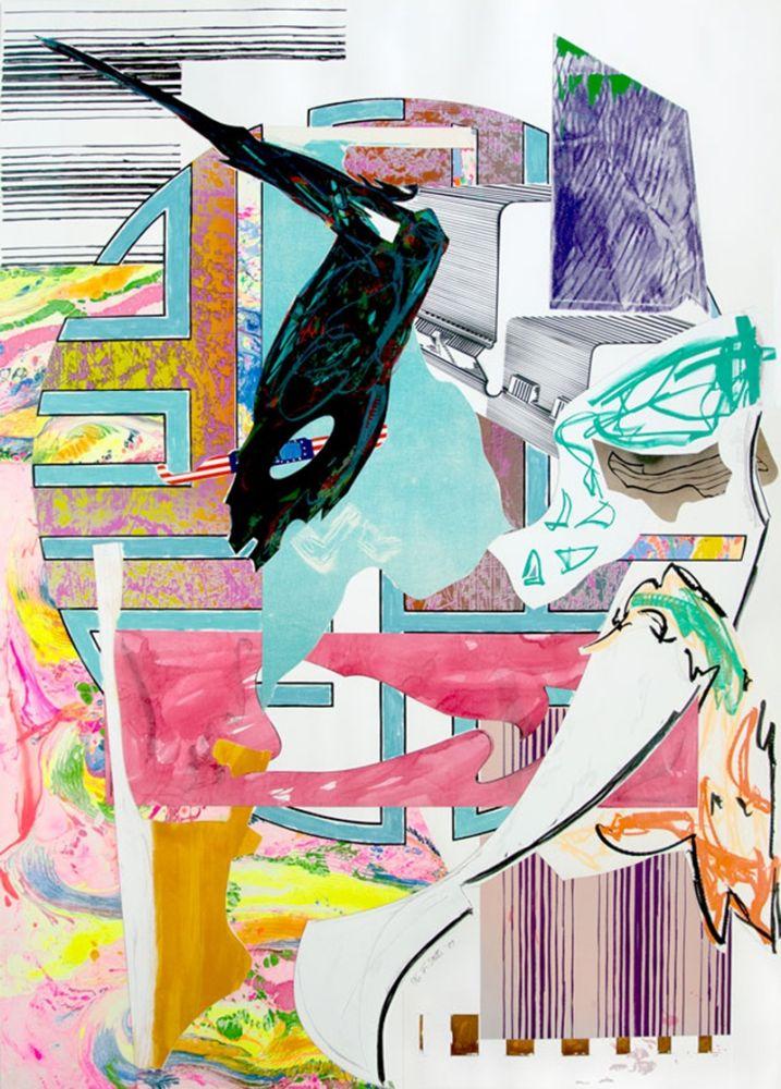 Litografia Stella - The Quarter-Deck from The Waves