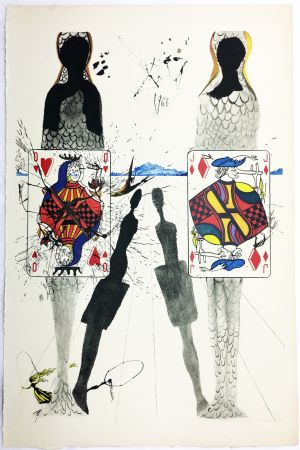Rotocalcografia Dali - THE QUEEN'S CROCKET GROUND (From Alice in Wonderland. New-Yok 1969).