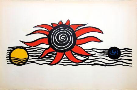 Litografia Calder - The red sun