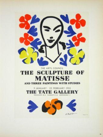 Litografia Matisse - The Sculpture of Matisse  Tate Galerie 1953