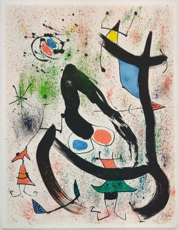 Litografia Miró - THE SEERS IV (LES VOYANTS)