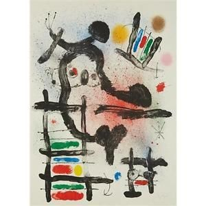 Litografia Miró - The Slingshot Bird