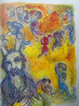 Litografia Chagall - The story of the Exodus, plate 3:  En ces jours