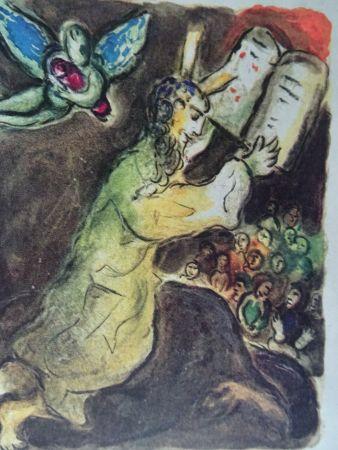 Litografia Chagall - The Story of the Exodus, plate number 20:Voici les Paroles du Seigneur..