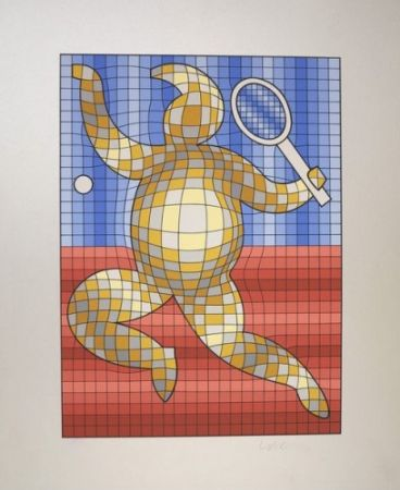 Multiplo Vasarely - The Tennis Player
