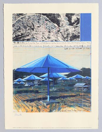 Litografia Christo - The umbrellas, joint project for Japan and USA