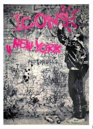 Serigrafia Mr Brainwash - The Wall (Pink), 2012