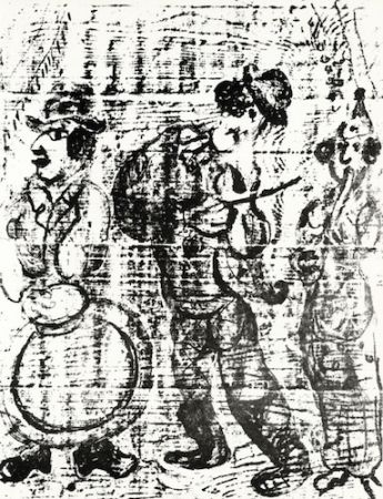 Litografia Chagall - The Wandering Musicians