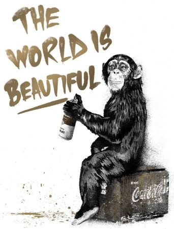 Serigrafia Mr Brainwash - The World Is Beautiful