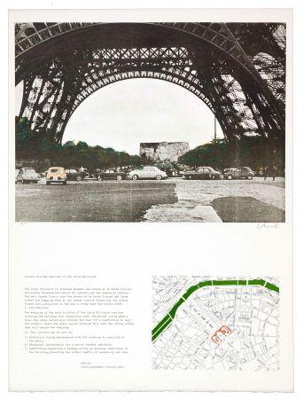 Litografia Christo - The wrapping of the Ecole militaire