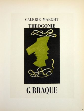 Litografia Braque - Theogonie  Galerie Maeght