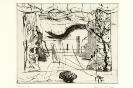 Punta Secca Kentridge - Thinking Aloud, Small Thoughts, Stage Set With Serpent