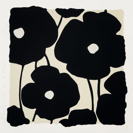 Serigrafia Sultan - Three Poppies (Black)