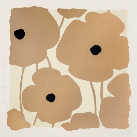 Serigrafia Sultan - Three Poppies (Gold)