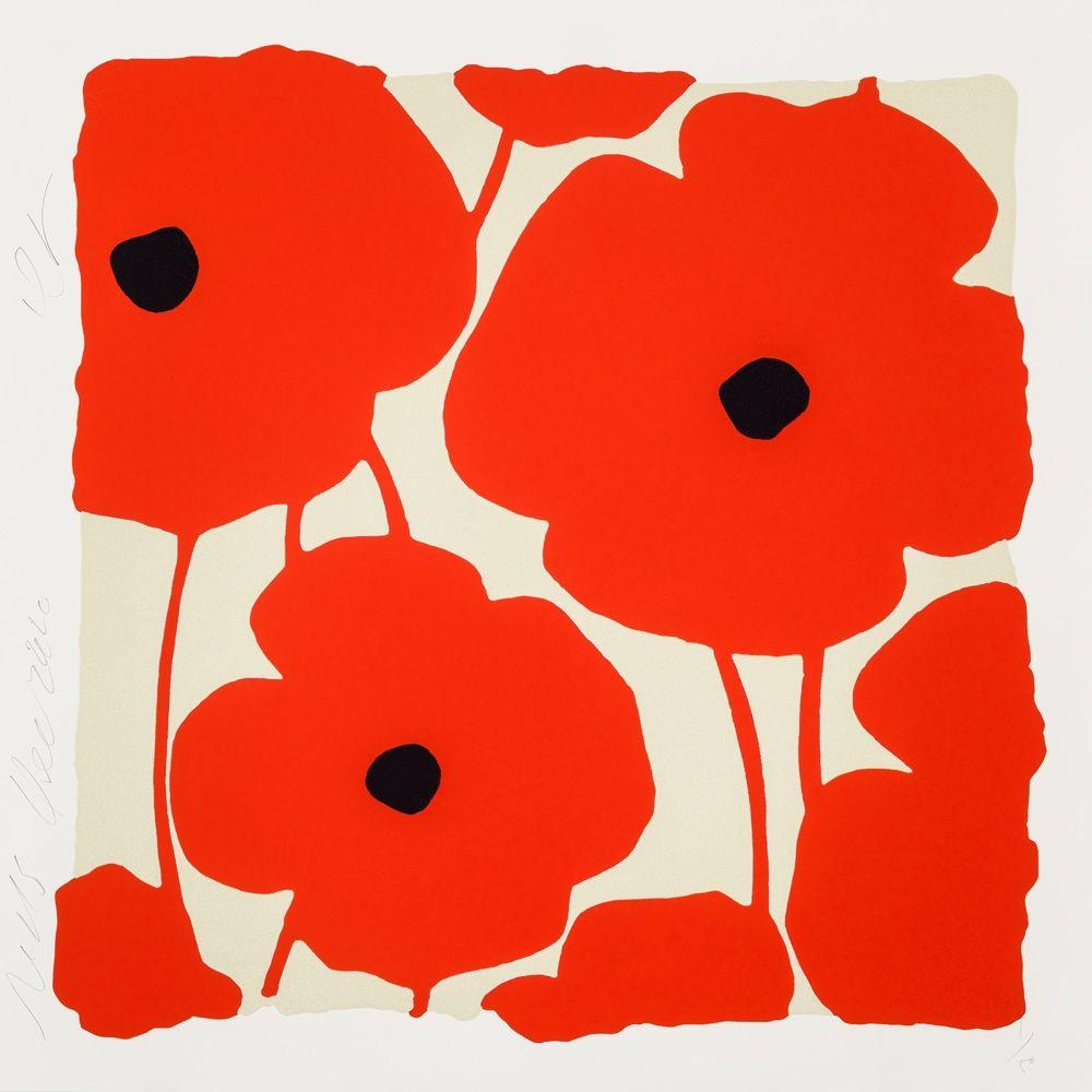 Serigrafia Sultan - Three Poppies (Red)