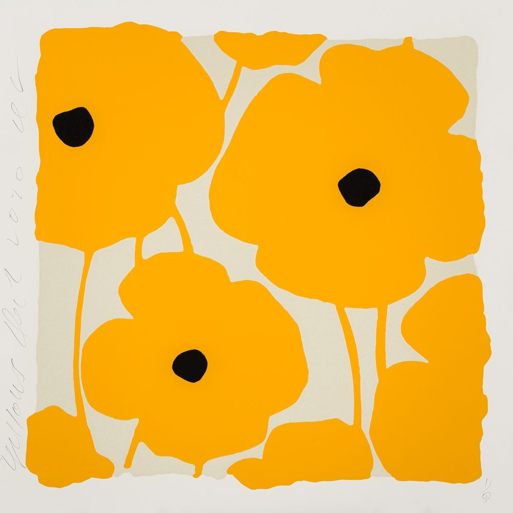 Serigrafia Sultan - Three Poppies (Yellow)