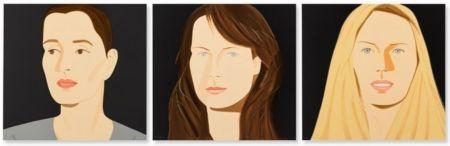Litografia Katz - Three Portraits (Sarah, Vivien, Sophia)