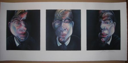 Litografia Bacon - Three studies for a Self-Portrait