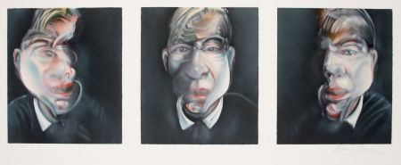 Litografia Bacon - Three studies for a Self-portrait, 1981