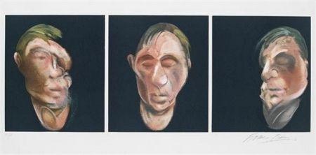 Litografia Bacon - Three Studies for a Self Portrait