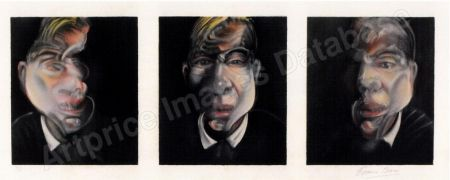 Litografia Bacon - Three Studies for a Selfportrait