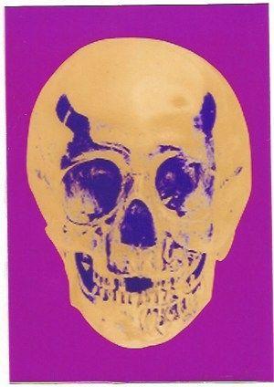 Serigrafia Hirst - Till Death do us Part - Long life Purple African Gold Purple Imperial Purple Skull