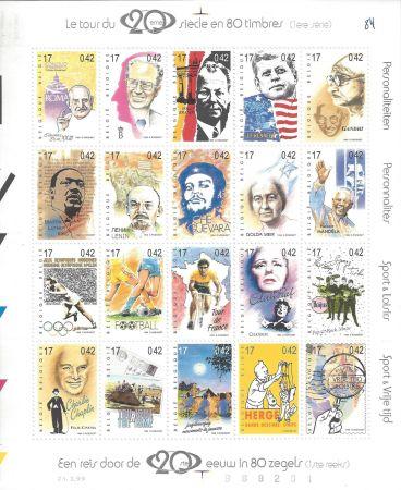Intaglio Rémi - Tintin Le Tour du 20ème siècle en 80 timbres