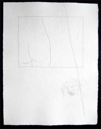 Incisione Picasso - Title:Fragment de corps de femme  Fragment of a woman's body