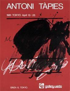 Manifesti Tàpies - Tokyo. April 13-25. Gallery Ueda