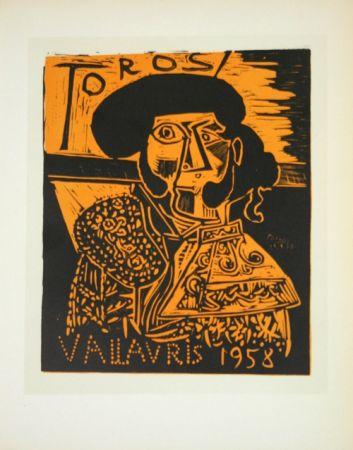 Litografia Picasso (After) - Toros  1958