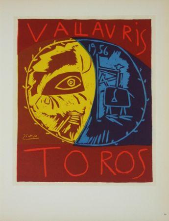 Litografia Picasso (After) - Toros en Vallauris