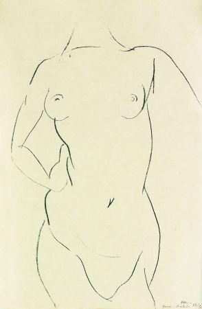 Litografia Matisse - Torse de face