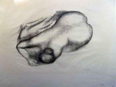 Litografia Maillol - Torso
