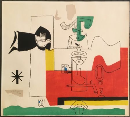Litografia Le Corbusier - Totem (hand-signed & numbered)