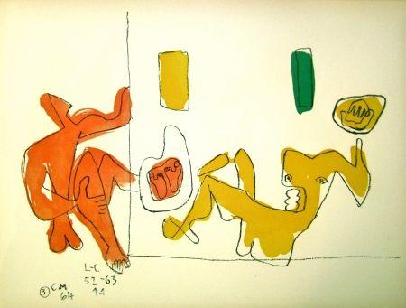Litografia Le Corbusier - Touching their Feet