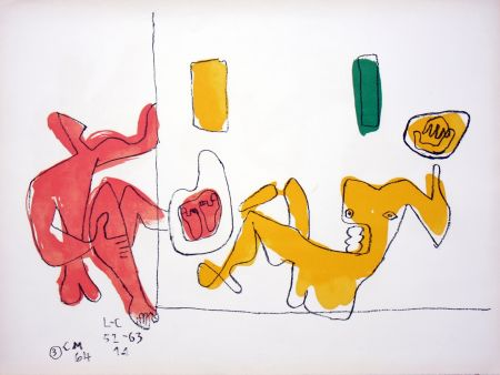 Litografia Le Corbusier - Touching Their Feet