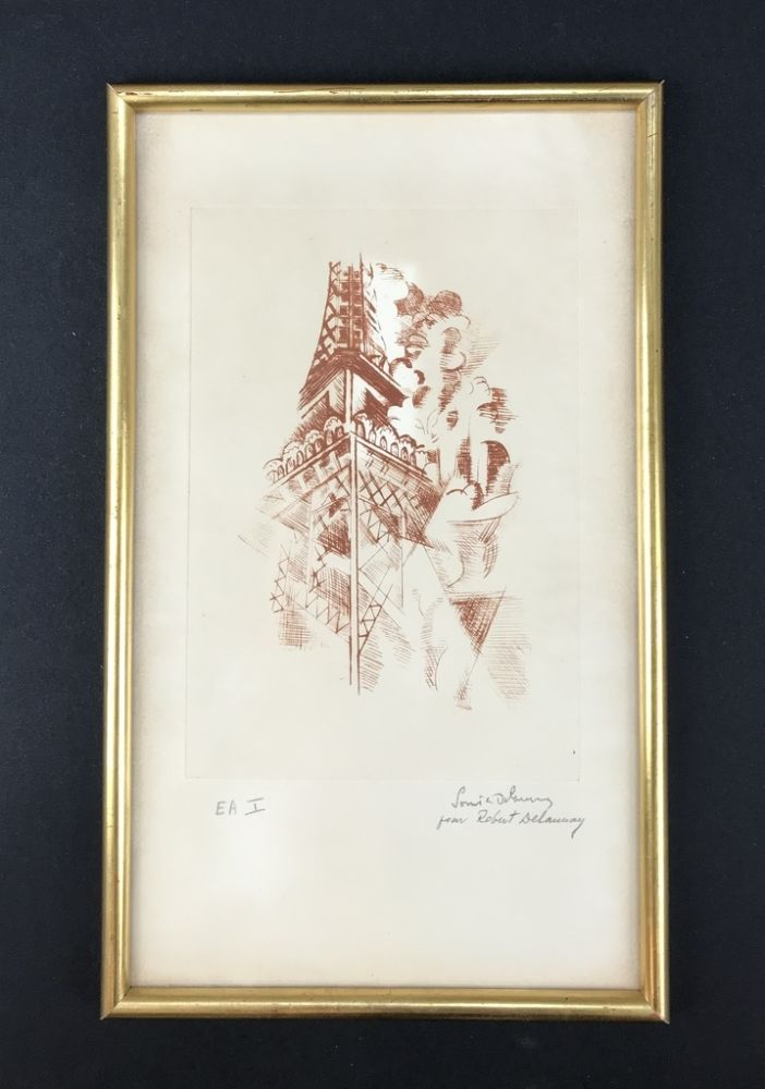 Acquaforte Delaunay - Tour Eiffel