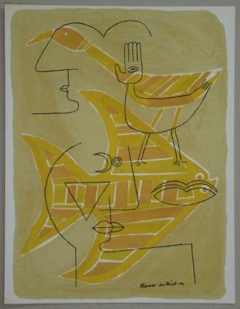 Litografia Brauner - Traces interstices