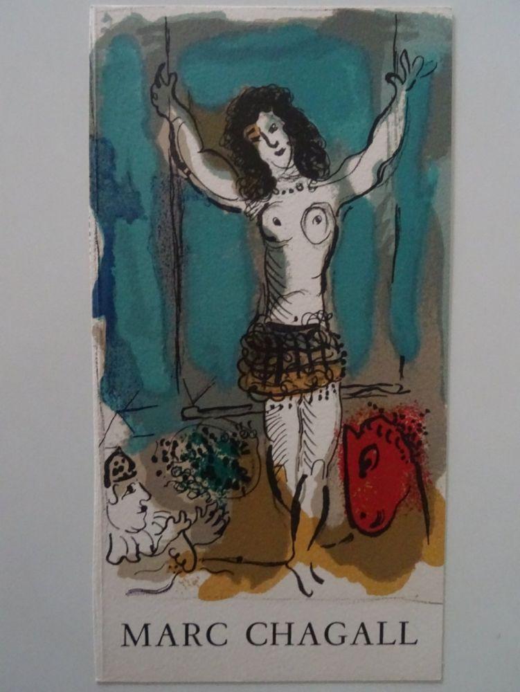 Litografia Chagall - Trapeziste a l'Oiseau, 1967