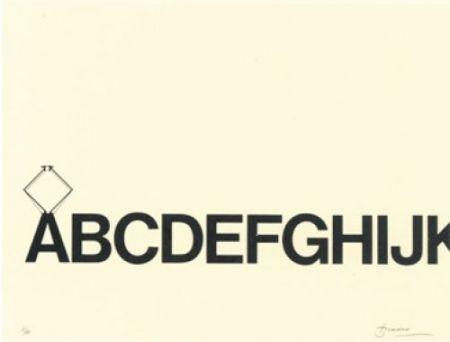 Litografia Brossa - Tren de lletres