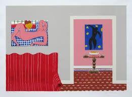 Litografia Nhlengethwa - Tribute to Henry Matisse